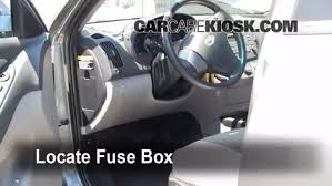 interior fuse box location 2007 2012 hyundai elantra 2010 Hyudnai Sonata Fuse Box Intrnal locate interior fuse box and remove cover