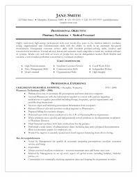 Pharmacy Excellent Technician Resume Sample For Job Vacancy