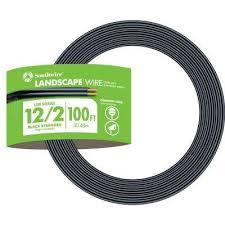 12 2 black stranded cu low voltage landscape lighting wire
