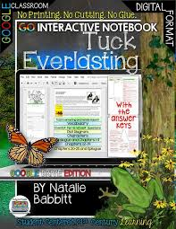 Tuck everlasting digital notebook google edition literature guide ...