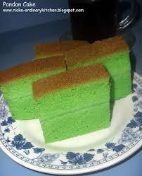 Just My Ordinary Kitchen Pandan Cake