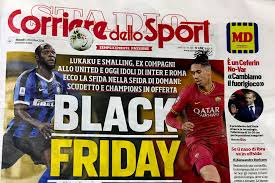 Black Friday': Italian sports newspaper accused of racism ...