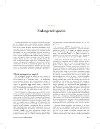 endangered species pdf available