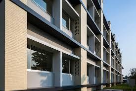Passive Facade Design Gallery Of Brick Passive Designed University Taisei Design