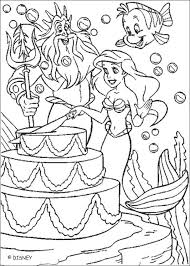 Small Picture ariel cutting birthday cake coloring page Camille Ariel Hello