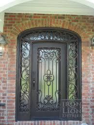 Wrought Iron Entry Door IronEntryDoor Iron Door Custom Single - Iron exterior door
