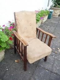 vintage child s arm chair utility fireside chair for reupholstering upcycling