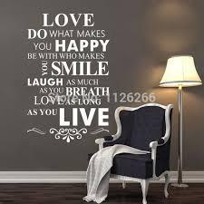 Liebe Tun Was Sie Glücklich Macht Wand Schriftzug Aufkleber