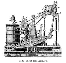 marine steam engine side lever engine of ss pacific 1849