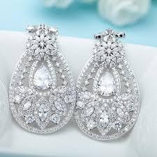 bridal chandelier earrings vintage diamond chandelier earrings cubic zirconia earrings big chandelier diamond earrings