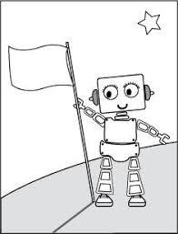 Robot Vlag Kleurplaat Kleurplaten Colorings Coloriages Robot