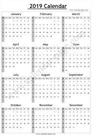 Week Number Calendar Calendar 2019 With Week Numbers Calendar 2019 With Week