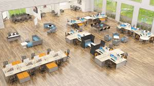 Open space office design ideas Office Furniture Quiet Down Work Distractions With Plants Increase Productivity Open Office Space Ideas Modular Systems Collaboration Furniture Ralphs Laurenpolos Image 6885 From Post Open Office Space Ideas With Plan Design