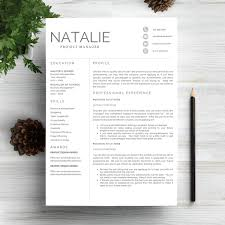 Resume Template 5 Pages Cv Columns Bald Hairstyles And Modern