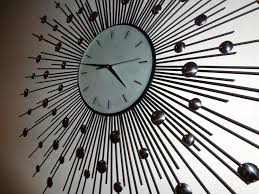 cool wall clock starburst wall clock with modern clocks and unique clocks also indoor area kitchen cool wall clock