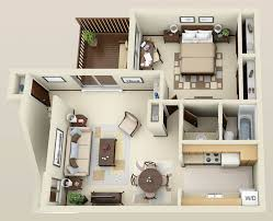 Wonderful One Bedroom Apartment Designs Plans 53 With Additional Home  Decoration For Interior Design Styles With