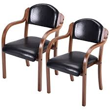costway set of 2 parson chairs elegant design leather modern dining chairs dining room kitchen furniture