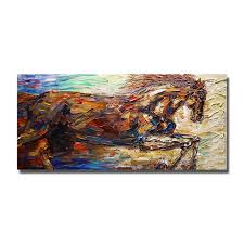 chinese famous horse eight horse paintings abstract animal oil canvas painting large size home wall decoration