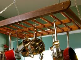 introduction pot rack ladder with hanging