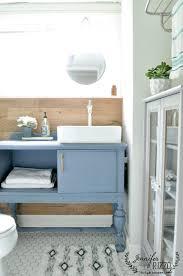 small guest bathroom renovation vanity