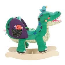 labebe child rocking horse toy stuffed animal rocker green crocodile plush rocker toy for