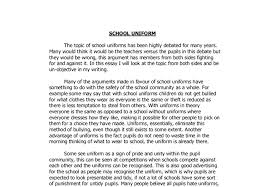 uniforms essay ideas school uniforms essay ideas