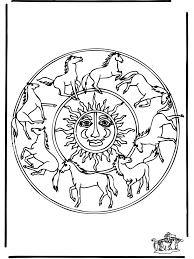 Mandala Paarden 1 Dierenmandalas