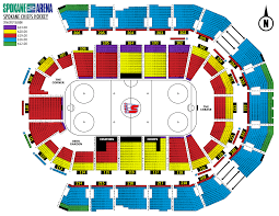 Chiefs Seating Chart With Rows Spokane Chiefs Seating Chart Coladot