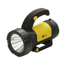 Ручной <b>фонарь</b> аккумуляторный Diall <b>LED</b> 190 Lm, черно-желтый ...