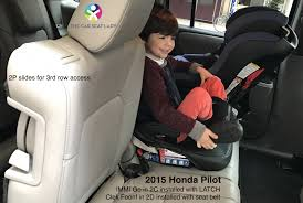 rear facing cybex aton2 in 2d is a good combination we ve found the 2nd row of the honda pilot is the same as the 2nd row of the acura mdx as shown