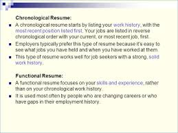 Chronological Resume Vs Functional Archives Elephantroom Creative