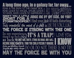 Star Wars Quotes Interesting Star Wars Art Print Quote Inspired Typography 48 By Etsy