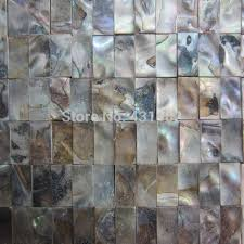 Decorative Tile Strips 60 style HYRX Fresh water shell mosaic tiles mother of pearl 60
