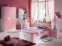 Bedroom:Red Pink Fairytale Unique Headboard Contemporary Teen Girl Bedroom  Idea Charming Pink And Love