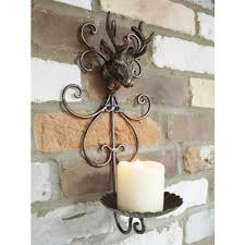 stag design wall mounted candle holder