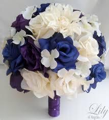 Blue And Purple Wedding Bouquets Wedding Decoration Bridal