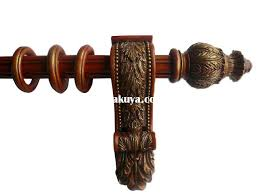 awesome curtain euro wood curtain rod brackets 3 inch projection for 2 1 wood curtain rod remodel