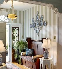 small entryway lighting. Small Entryway Lighting. Charming Foyer Decorating With Stripped Wall And White Table Lamp Ideas Lighting
