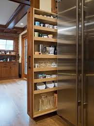 small kitchen pantry using small places for storage
