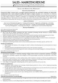 Advertising Sales Marketing Resume Senior Manager Objective And