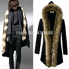 mens coat with fur collar newest winter fur coat men big yard long white male zara