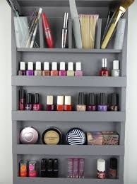 Grey Make up organizer - bathroom storage - pencil-lipstick holder Nail  polish rack display -wall hanging-plexiglass - rangement maquillage