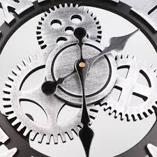 14 inch 3d vogue gear clock retro roman digital round art wall clock design of moving on moving digital wall art with 14 inch 3d vogue gear clock retro roman digital round art wall clock