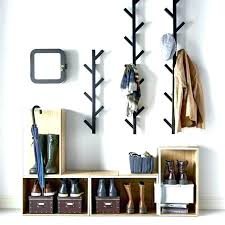 Wall Mounted Coat Rack Mirror Unique Coat Hanger With Mirror Above Another View Of The Coat Rack Coat