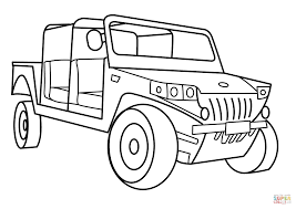 Small Picture Military Light Utility Vehicle coloring page Free Printable