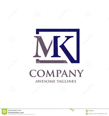 Mk Logo Design Vector Abstract Letter Mk Logo Vector Stock Vector Illustration