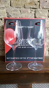 riedel heart to heart cabernet sauvignon glasses 2 glasses