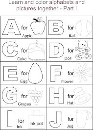 Preschool Alphabet Coloring Pages Free Printable Alphabet Coloring