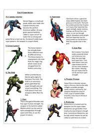 Characteristics Of A Superhero 44 Free Esl Superhero Worksheets
