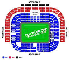 Old Trafford Stadium Map For Manchester United Ticket